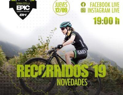 Cartel anunciador de la presentación de los recorridos